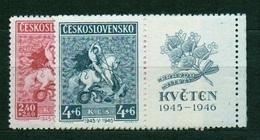 1946 Czechoslovakia MNH - Mi 490-491 Zf. Yv 427-428 ** MNH - Tschechoslowakei/CSSR