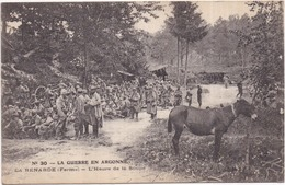ÂNE Au 1er Plan - La Guerre En Argonne - Ferme LA RENARDE (Vienne-le-Château) - L'Heure De La Soupe - Animée, Miltaires - Anes