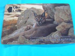 OMAN  Used  GPT Card  13OMNA  Animal.  LYNX - Oman