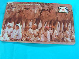 OMAN  Used  GPT Card  5OMNA   Early Card  Animals Camel Tribe - Oman