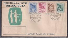 Indonesia - 1965 - FDC - Attention Au Destin Des Aveugles - Handicaps