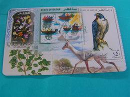 QATQR Used Autelca Magnetic Card   Falcon,flowers,animal - Qatar