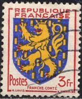 France Poste Obl Yv: 903 Mi 921 Yv:0,5 Euro Franche-Comté Armoiries (Lign.Ondulées) - Francia