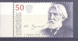 2018. Kyrgyzstan, Ivan Turgenev, Russian Writer, 1v, Mint/** - Kirgisistan