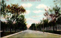 Iowa Davenport Government Island Main Avenue 1909 - Davenport