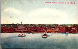 Iowa Davenport View From Rock Island 1910 - Davenport