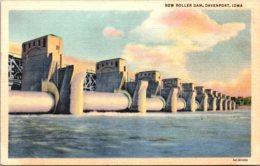 Iowa Davenport New Roller Dam Curteich - Davenport
