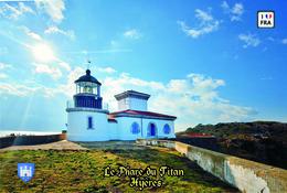 Set 6 Cartes Postales, Phares, Lighthouses Of Europe, France,  Hyères, Le Phare Du Titan - Leuchttürme