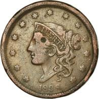 Monnaie, États-Unis, Coronet Cent, 1838, Philadelphie, TB+, KM 45 - Federal Issues