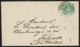 L. Affr N°30 Dc LIEGE (GUILLEMIN)/1873 Pour Falisolle Arriv Octogone TAMINES. RR - 1869-1883 Léopold II