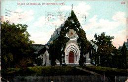 Iowa Davenport Grace Cathedral 1908 - Davenport
