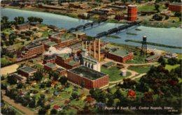 Iowa Cedar Rapids Aerial View Penick & Ford Plant Curteich - Cedar Rapids