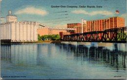 Iowa Cedar Rapids Quaker Oats Company 1954 Curteich - Cedar Rapids