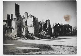(RECTO / VERSO) ORADOUR SUR GLANE - PHOTO APRES DESTRUCTION - TACHE -  PHOTO FORMAT 86 X 116 Mm - Oradour Sur Glane