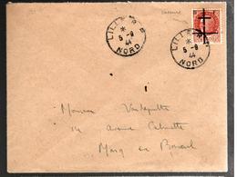 27450 - Libération De LILLE/grande Cassure - Marcophilie (Lettres)