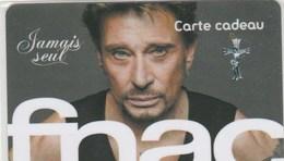 CARTE CADEAU   FNAC  AVEC JOHNNY HALLIDAY - France