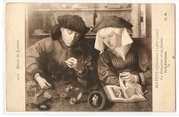 MK 15 OLD POSTCARD  , FINE ART , PAINTINGS , MUSEE DU LOUVRE , MATSYS , La Banquier Et Sa Femme - Museum