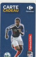 CARTE CADEAU   CARREFOUR  AVEC  PATRICE EVRA - France