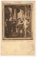 MK 25 OLD POSTCARD  , FINE ART , PAINTINGS , MUSEE DU LOUVRE , P.P. RUBENS , Entrevue De Marie De Médicis Et De Son Fils - Museum