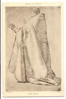 MK 27 OLD POSTCARD  , FINE ART , PAINTINGS , MUSEE DU LOUVRE , E. LESUEUR , Saint Bruno - Museum