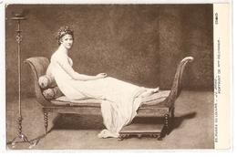 MK 29 OLD POSTCARD  , FINE ART , PAINTINGS , MUSEE DU LOUVRE  , J.L. DAVID , Portrait De Mme Récamier - Museum