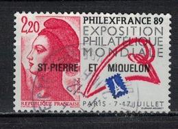 SAINT PIERRE ET MIQUELON      N°  YVERT  489  (1) OBLITERE       ( Ob   2/49 ) - St.Pierre & Miquelon