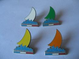 4 Pin's BATEAU VOILIER ECOLE FRANCAISE DE VOILE - Boats