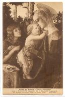 MK 34 OLD POSTCARD  , FINE ART , PAINTINGS , MUSEE DU LOUVRE  , BOTTICELLI , La Vierge , L'Enfant Jésus Et Saint Jean - Museum