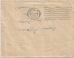 LETTRE MECANIQUE FLIER 7 LIGNES ONDULEES PARIS XII 20.VII.1950 P.P. - Marcophilie (Lettres)