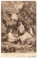 MK 49 OLD POSTCARD  , FINE ART , PAINTINGS, MUSEE DU LOUVRE  , DIAZ DE LA PENA , Nymphes Sous Bois - Museum