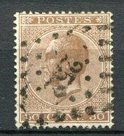 Belgien Nr.16 D          O  Used           (996) - 1865-1866 Profile Left