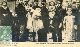 Militaria - Enfants Sauvés Par Des Soldats Belges Aux Environs De Malines - Timbre Avec : Ne Pas Livrer Le Dimanche - Oorlog 1914-18