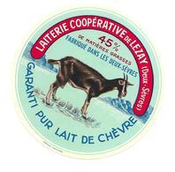 ETIQUETTE De FROMAGE..PUR CHEVRE Fabriqué Dans Les DEUX SEVRES..Laiterie Coop. De LEZAY (79) - Cheese