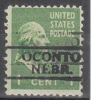 USA Precancel Vorausentwertung Preo, Locals Nebraska, Oconto 728 - Vereinigte Staaten