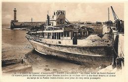 85)  NOIRMOUTIER  L' Épave  Du Vapeur SAINT PHILIBERT Au Vieux Môle De Saint Nazaire Ce Navire Partis De Noirmoutier ... - Noirmoutier