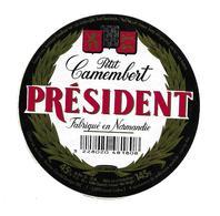 ETIQUETTE De FROMAGE..Petit CAMEMBERT Fabriqué En NORMANDIE..Président..BESNIER - Cheese