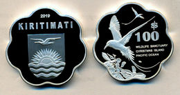 KIRITIMATI KIRIBATI 100 DOLLARS 2019 WILDLIFE BIRD VAWY SHAPE PROOF NON UFFICIALE - Kiribati