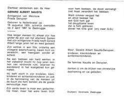 Visverwerker Gerard Naudts ° NEDERBRAKEL +ZEEBRUGGE 1987 (F.DERUYVER) - Images Religieuses