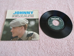 45 Tours 4 Titres : N° 437.007. - Johnny Lui Dit Adieu. - Johnny Hallyday. - Rock