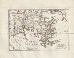Carte Géographique De L'Arcgolide - Pour Le Voyage Du Jeune Anacharsis - Revue Et Corrigée En 1821 - Cartes Géographiques