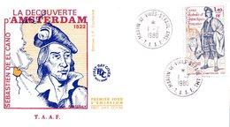 TAAF / FDC DU TIMBRE DE LA DECOUVERTE DE L'ILE D'AMSTERDAM EN 1522 - FDC