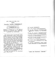 Scheepstimmerman A.EEREBOUT °BREDENE 1888 +OOSTENDE 1966 (E.BALS) - Images Religieuses