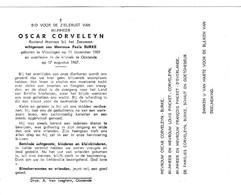 MATROOS ZEEWEZEN O.CORVELEYN °VLISSINGEN 1901 +OOSTENDE 1967 (P.BURKE) - Images Religieuses