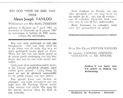 ZEEMAN A.VANLOO °BREDENE 1881 +OOSTENDE 1967 (B.DEREERE) - Images Religieuses