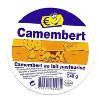 ETIQUETTE De FROMAGE Cartonnée..CAMEMBERT Fabriqué En FRANCE ( Manche 50) - Cheese
