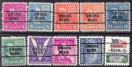 USA Precancel Vorausentwertung Preo, Locals Nebraska, Omaha 216, 10 Diff. - Vereinigte Staaten