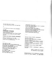 Stichter Zeevishandel Fernand Vyncke °OOSTENDE 1905 +1985 (G.JACQUEMAIN) - Images Religieuses