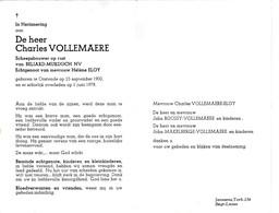 Scheepsbouwer Beliard-Murdoch NV Charles Vollemaere °OOSTENDE 1900 +1978 (H.ELOY) - Images Religieuses