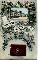 N°2064 T -carte à Systèmes  Un Bonjour De Saumur - Complet- - Mechanical