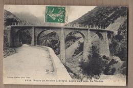 CPA 06 - Route De MENTON à SOSPEL - Ligne Du TRAM - Le Viaduc - TB PLAN PONT - CHEMIN DE FER + Oblitération - Autres Communes